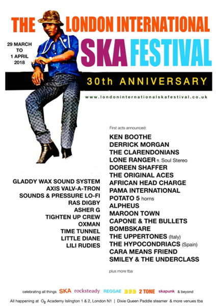 The London International Ska Festival 2018