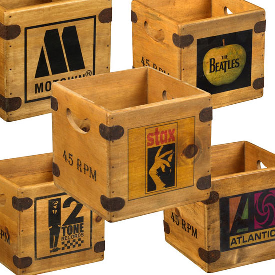 17. Wooden classic record label crates on eBay