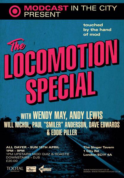 Modcast Locomotion Alldayer in London