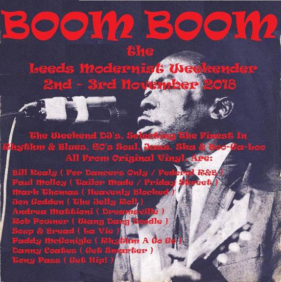 Boom Boom – The Leeds Mod Weekender 2018