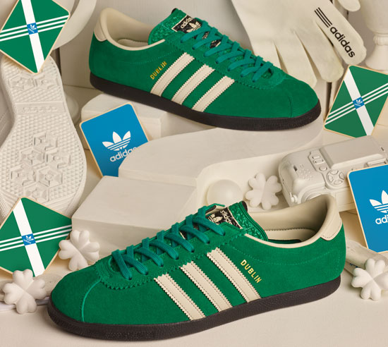 Adidas Dublin trainers return with a St Patrick's Day finish