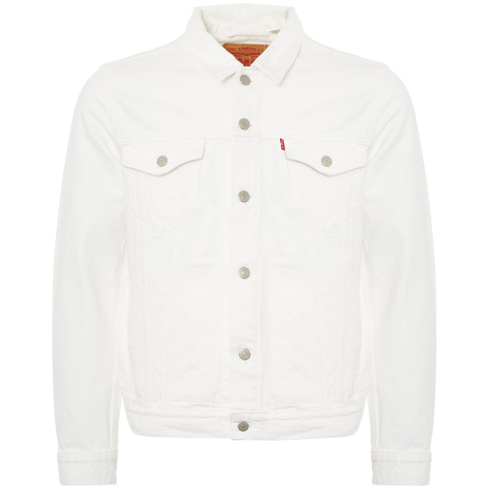 Classic Levi's denim jacket in white back on the shelves