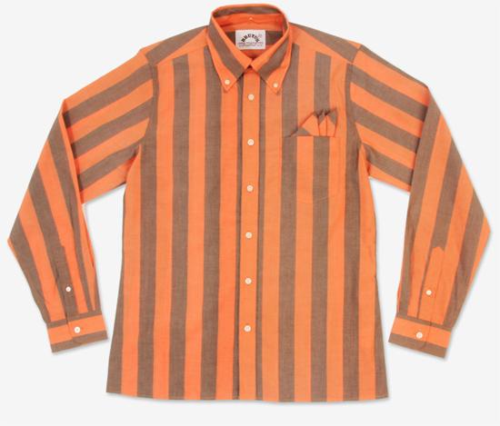 Brutus Trimfit striped long-sleeve shirts