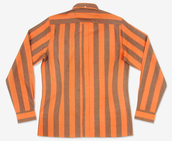 Brutus Trimfit striped long-sleeve shirts