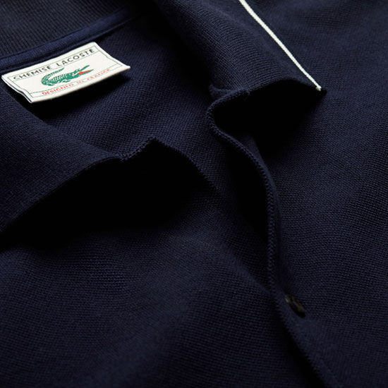 Lacoste limited edition 1960s buttoned polo shirt