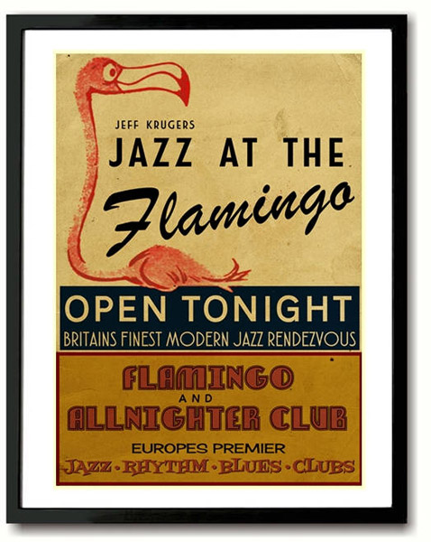 Jazz At The Flamingo print by Indieprints