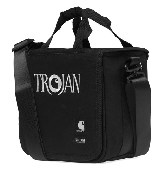 Limited edition Trojan 7-inch record bags