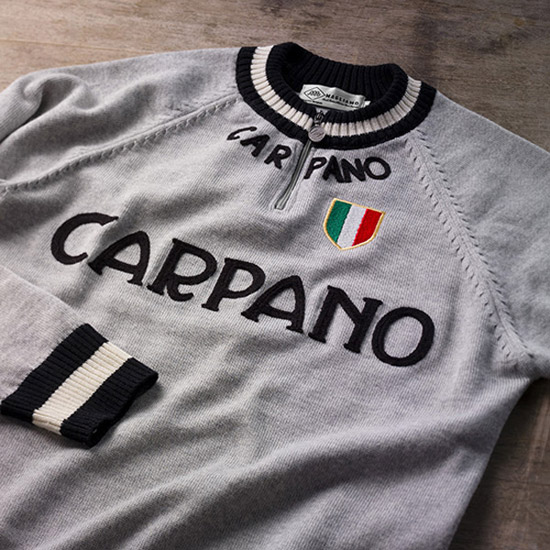 Carpano vintage-style Merino Wool track top by Magliamo