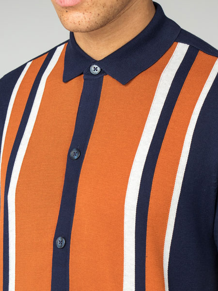 1960s-style button through polo at Ben Sherman