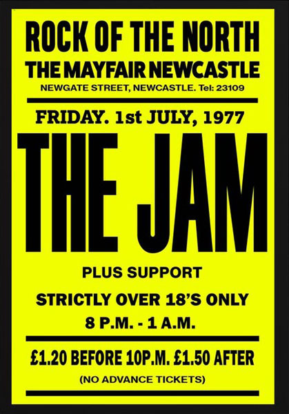 The Jam and The Who vintage gig posters by Bad Moon Prints