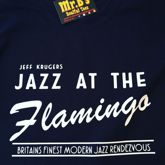 Jazz At The Flamingo t-shirts by Mr. B's Soulful Tees