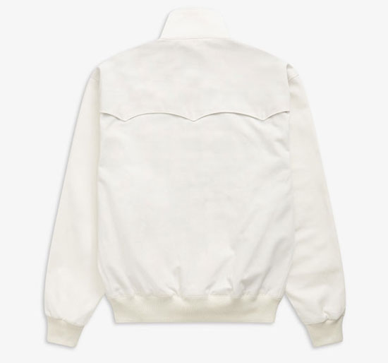 Fred Perry Harrington Jacket in white