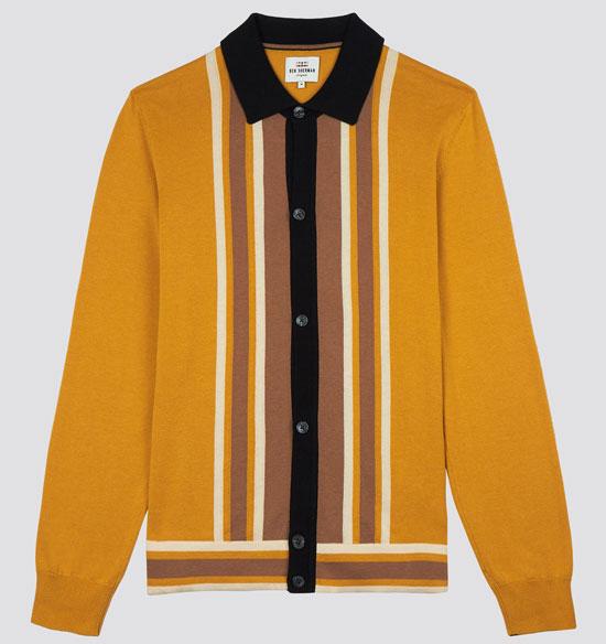 Ben Sherman 1960s button-through polo shirts