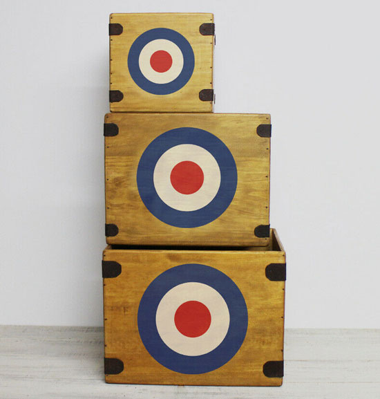 Mod target wooden LP and single crates