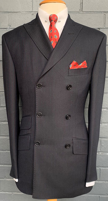 1960s-style double-breasted suits at Adam of London