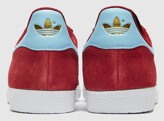 Adidas Gazelle trainers in claret and