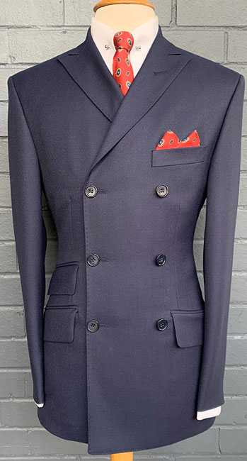 20. 1960s-style double-breasted suits at Adam of London
