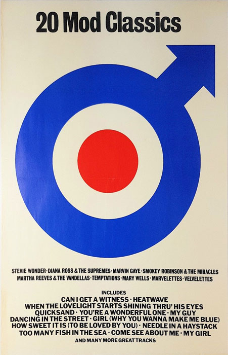 20 Mod Classics promotional poster on eBay