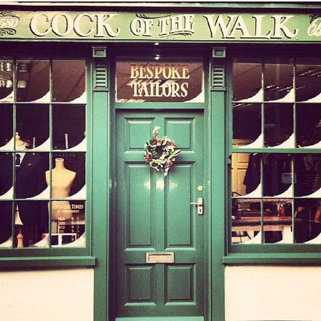 Cock of the Walk shopfront. Signage by Steve Millington