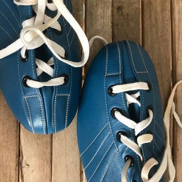 Unworn 1960s bowling shoes at Ham Yard Vintage