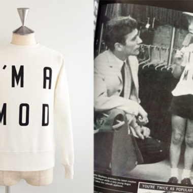 Mod logos recreated as clothing by Pop Gear
