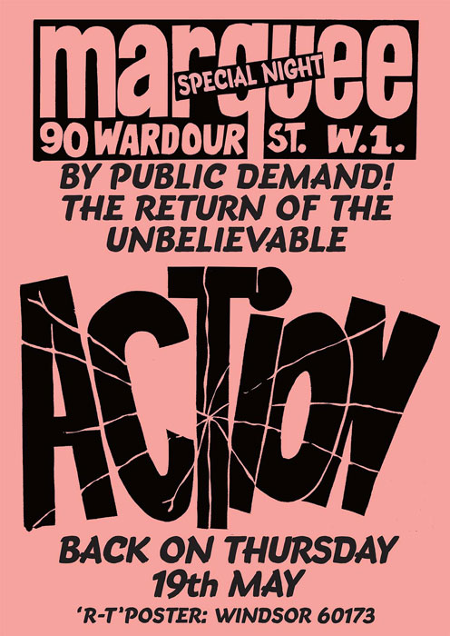 The Action classic gig posters reprinted