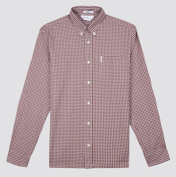 Gingham button-dwn shirt