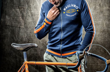 Merino wool casual track tops by Magliamo