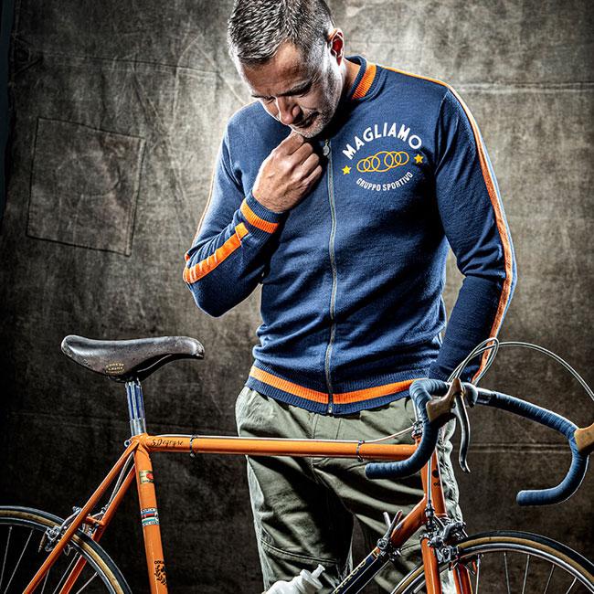 Merino wool casual track tops by Magliamo