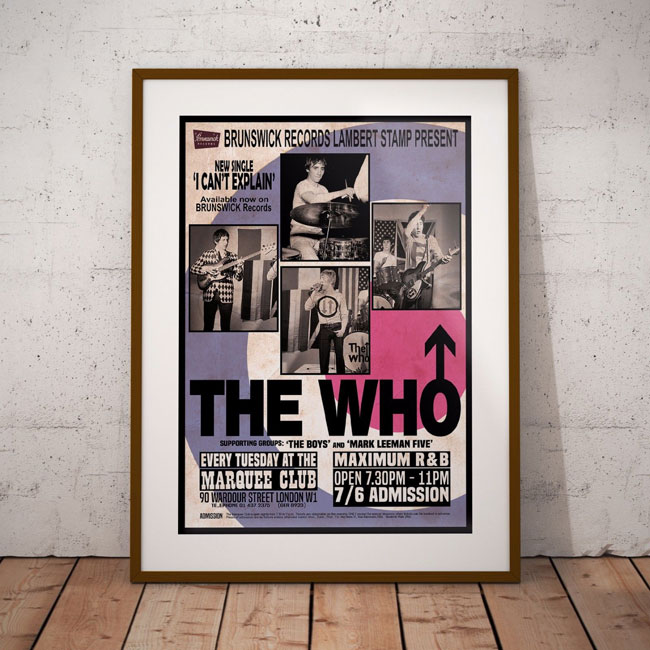 Classic Mod gig posters by If You Like Art