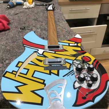 Ric Arts: Paul Weller replica guitars as artwork