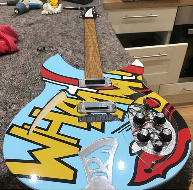 Ric Arts: Paul Weller replica guitars as artwork