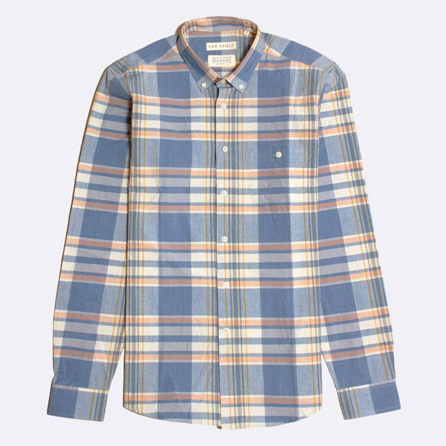 In the sale: Far Afield x Madras Shirting Co button-down shirts