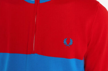 1960s half-zip cycling tops by Fred Perry