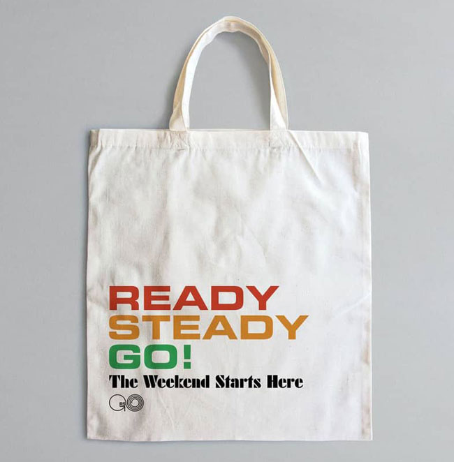Official Ready Steady Go! tote bags