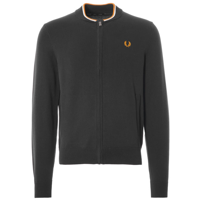 Vintage-style knitted zip top by Fred Perry