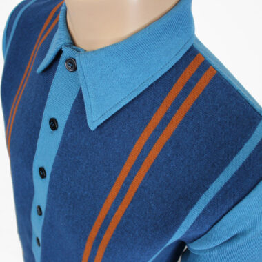 1960s-style full-button knitwear by Jump The Gun