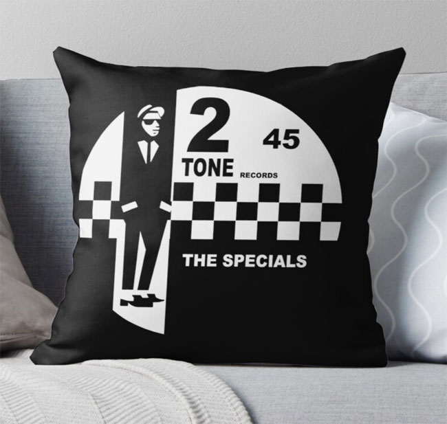 Mod, soul and ska cushions by Rat Rock