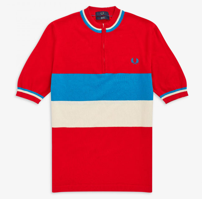 34. 1960s half-zip cycling tops by Fred Perry