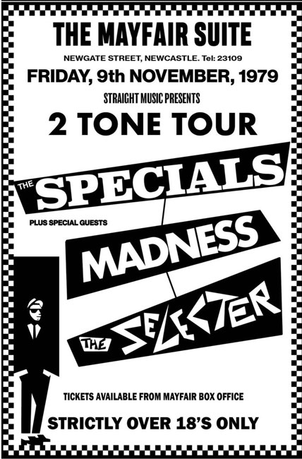 37. Reprinted 2 Tone tour posters by Bad Moon Prints
