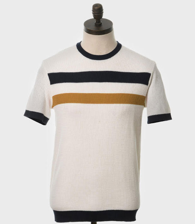1960s-style Goldhawk waffle knit by Art Gallery Clothing