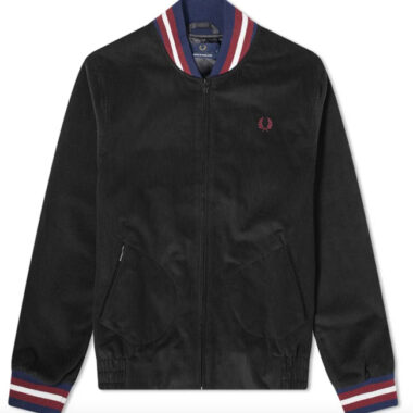 Fred Perry Reissues needlecord bomber jacket