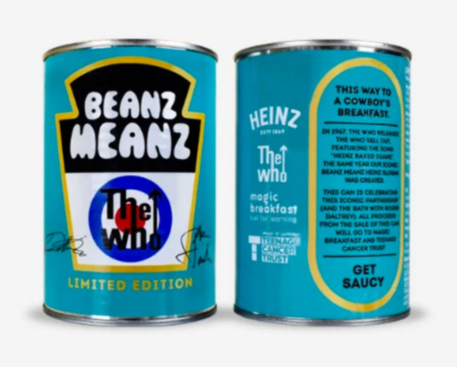 Limited edition Beanz Meanz The Who cans