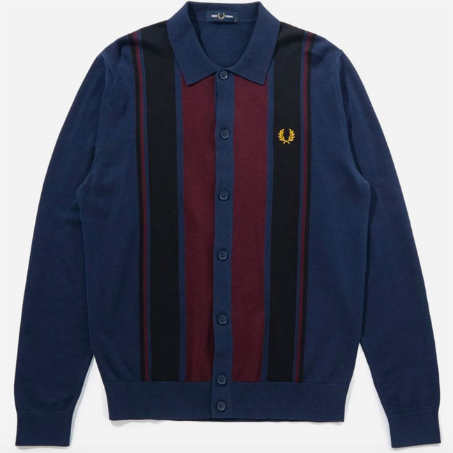Fred Perry Colourblock Knitted Shirt