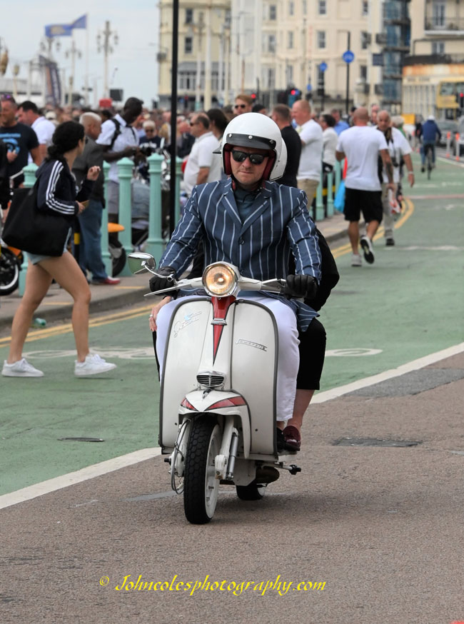 Brighton scootering photos 2021 by John Coles