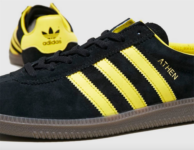 Adidas Athen trainers in black suede available now