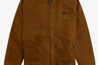 Fred Perry suedette tennis bomber jacket